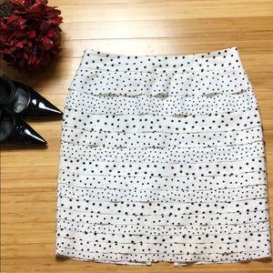White House Black Market Tiered Polka Dot Skirt 8